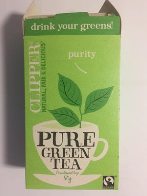 Box of green tea bags