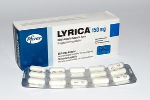 Box of Lyrica capsules