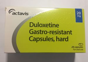 Box of duloxetine